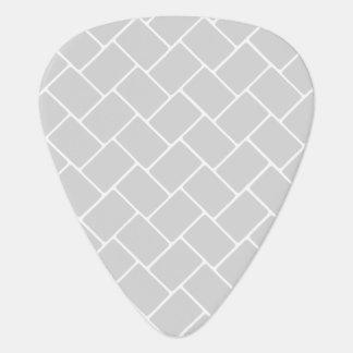Silvery Basket Weave Guitar Pick