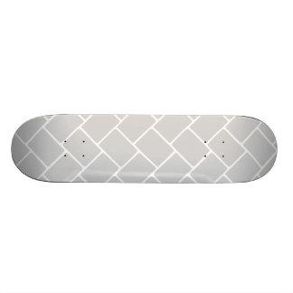Silvery Basket Weave Skateboard Deck