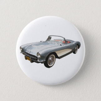 Silvery blue 1959 Corvette button