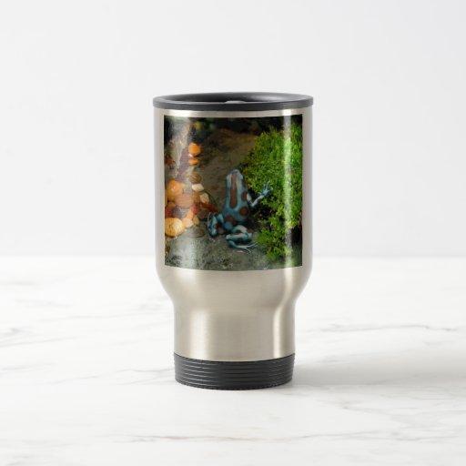 Silvery Blue Dart Frog CB 15 Oz Stainless Steel Travel Mug