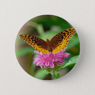 Silvery Checkerspot Butterfly Pinback Button