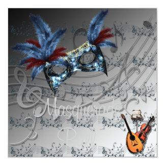 Silvery Colors Masquerade Ball Invitation