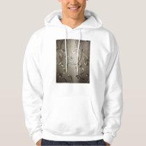 silvery filigree pattern hoodie