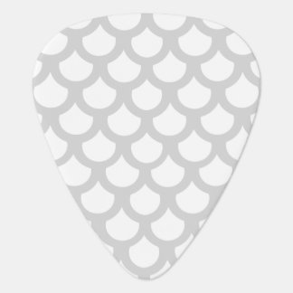 Silvery Fish Scale 1 Guitar Pick