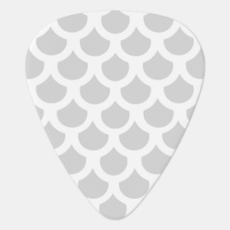 Silvery Fish Scale 2 Guitar Pick