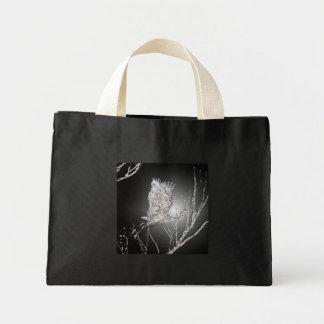 Silvery Flying Heron Mini Tote bag