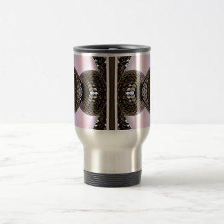 Silvery Glass Knobs On Purple Background Travel Mug