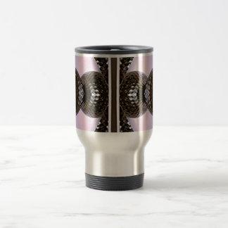 Silvery Glass Knobs On Purple Background Travel Mug