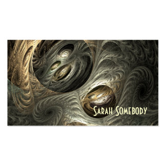 Silvery Gold Tunnel Fractal Profile Card Double-Sided Standard Business Cards (Pack Of 100)