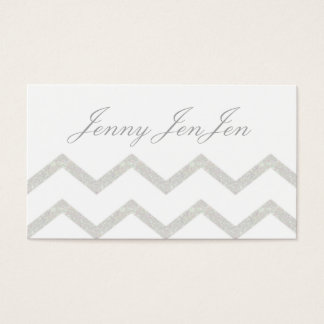 Silvery Gray Business Cards