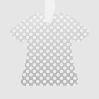 Silvery Grey and White Polka Dot Pattern