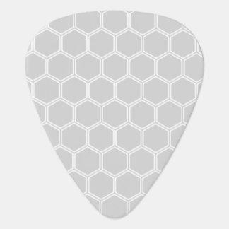Silvery Hexagon 1 Guitar Pick
