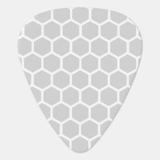 Silvery Hexagon 2 Guitar Pick
