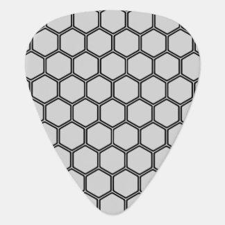 Silvery Hexagon 3 Guitar Pick