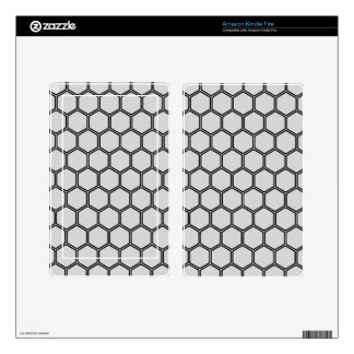 Silvery Hexagon 3 Skins For Kindle Fire