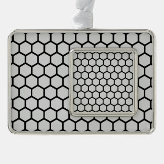 Silvery Hexagon 4 Ornament