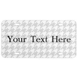 Silvery Houndstooth 1 License Plate