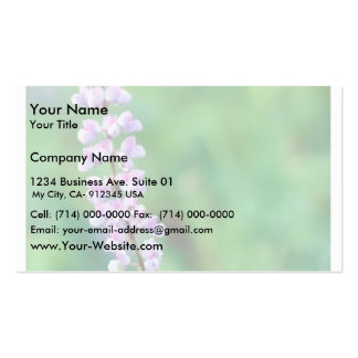 Silvery Lupine Business Card Template