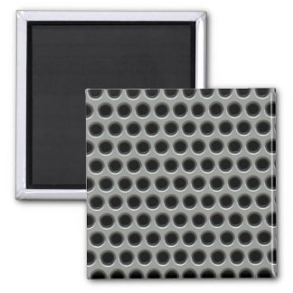Silvery Metal Mesh 2 Inch Square Magnet