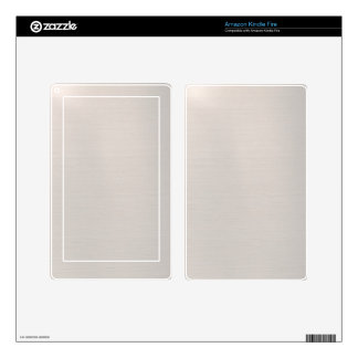 Silvery Metallic Kindle Fire Decal