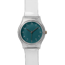 Silvery Midnight Wristwatch