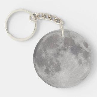 Silvery Moon keychain