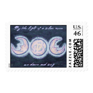 Silvery Moon Stamp