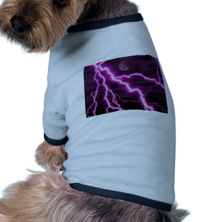 Silvery Moon With Jagged Purple Lightening Streaks Dog Clothing