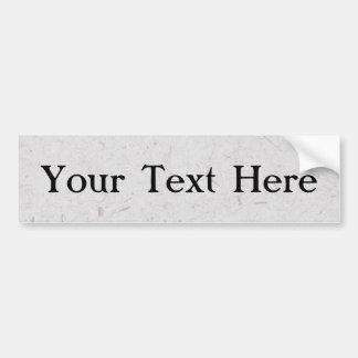 Silvery Papyrus Bumper Sticker