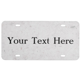 Silvery Papyrus License Plate