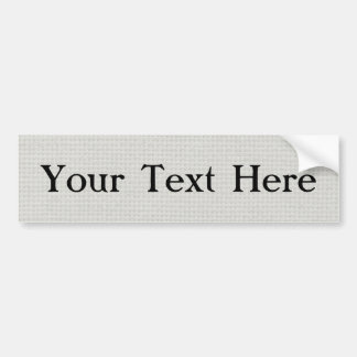 Silvery Quilted Bumper Sticker