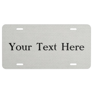 Silvery Quilted License Plate
