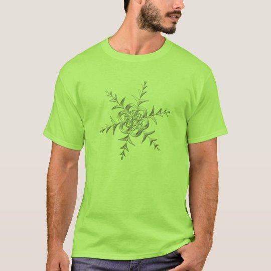 Silvery Snowfall at Midnight T-Shirt
