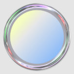 Silvery sticker for text, logo, image