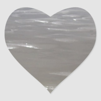 Silvery Sunlight Heart Sticker