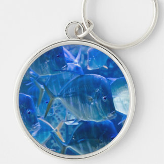 Silvery Tropical Fish Keychain