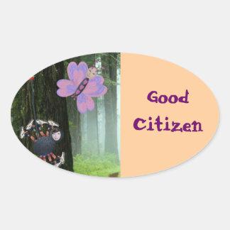 Silvester and Batina Oval Sticker
