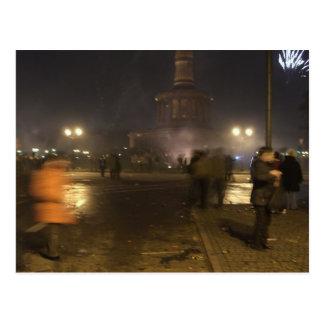 Silvester Siegessäule Berlin Postcard