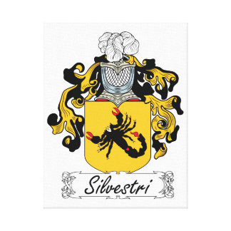 Silvestri Family Crest Stretched Canvas Prints