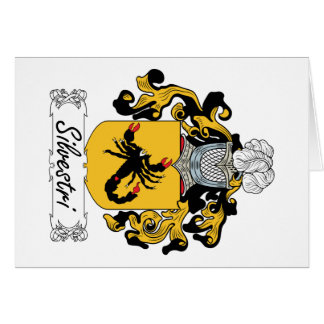 Silvestri Family Crest Greeting Card