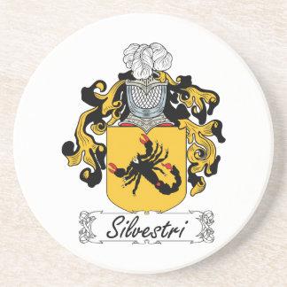 Silvestri Family Crest Beverage Coaster