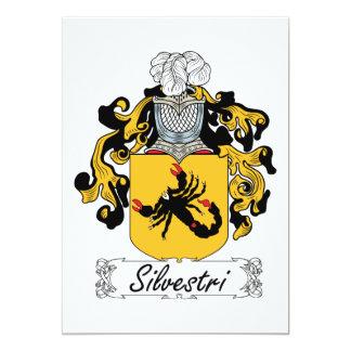 Silvestri Family Crest 5x7 Paper Invitation Card