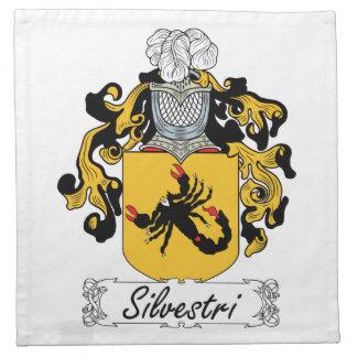 Silvestri Family Crest Printed Napkin