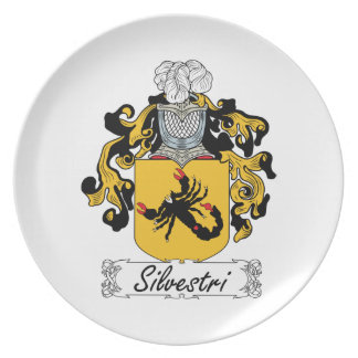 Silvestri Family Crest Party Plates