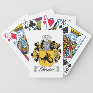 Silvestri Family Crest Bicycle Poker Cards