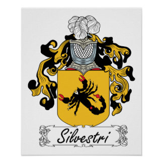 Silvestri Family Crest Posters