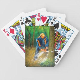 Silvicultor del arborista del cirujano de árbol baraja de cartas