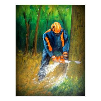 Silvicultor del arborista del cirujano de árbol postal