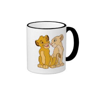 Simba and Nala Disney Ringer Coffee Mug