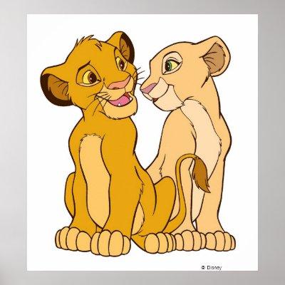 Simba and Nala Disney posters